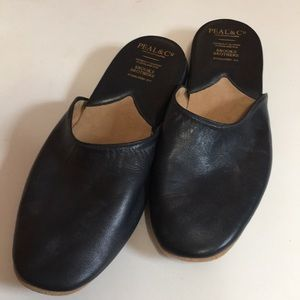 Brooks Brothers Backless Nappa Slippers Size 10